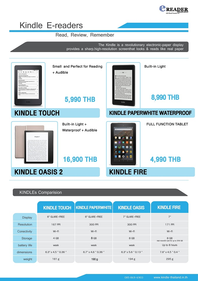 Kindle-Thailand in th